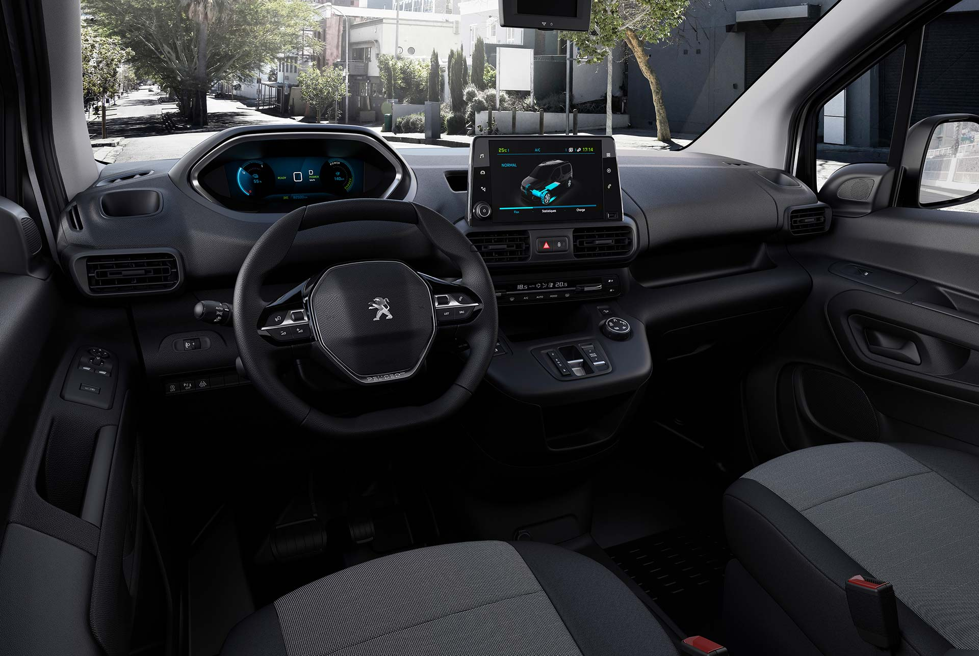 Interior Peugeot Partner eléctrica