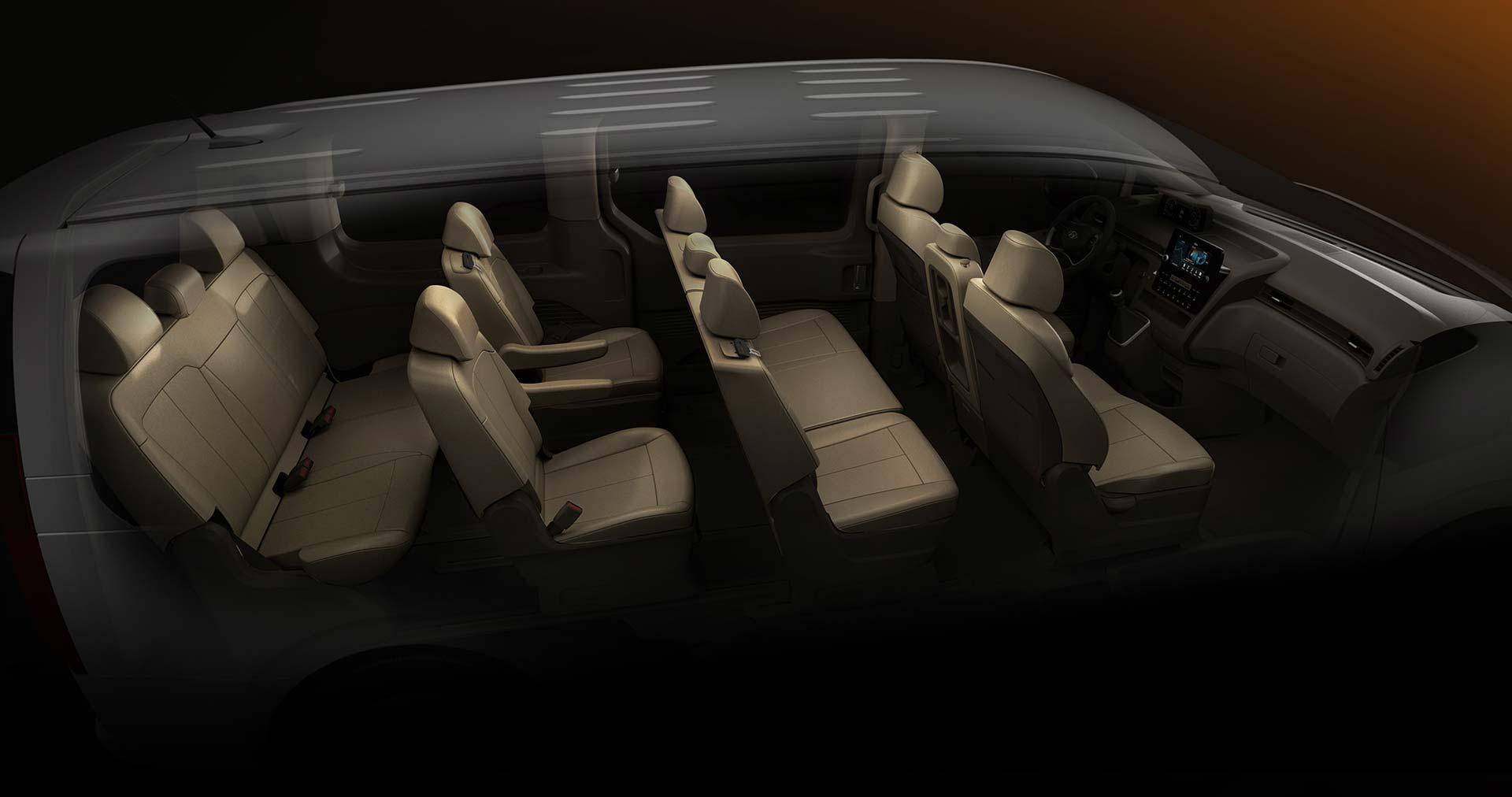 Interior Hyundai Staria 11 asientos