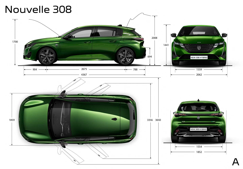 Medidas nuevo Peugeot 308 (2021)
