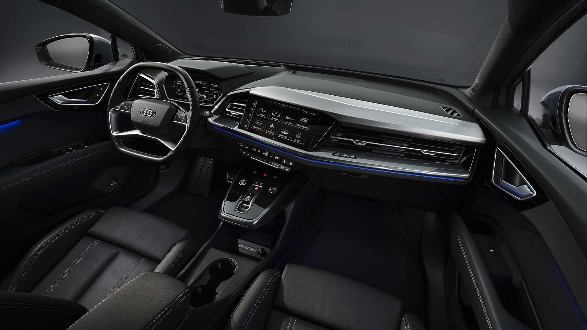 Interior Audi Q4 Sportback e-tron