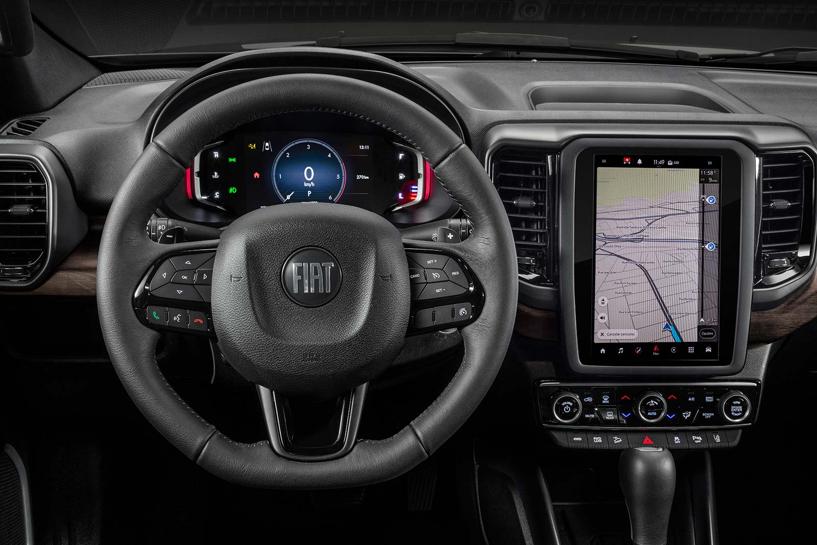 Interior Fiat Toro Ranch 2022