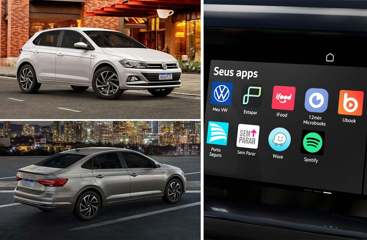 Los Volkswagen Polo y Virtus, con VW Play