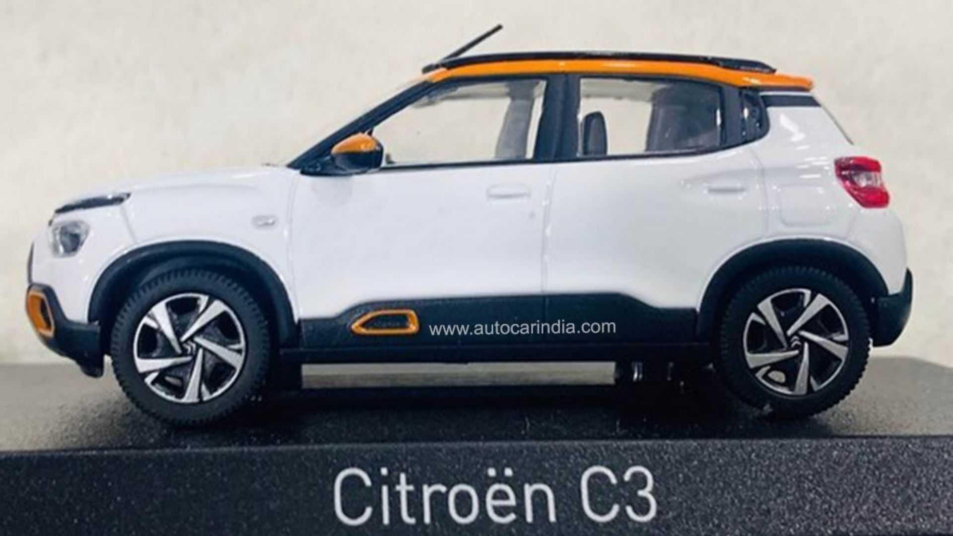 Nuevo Citroën C3 auto a escala