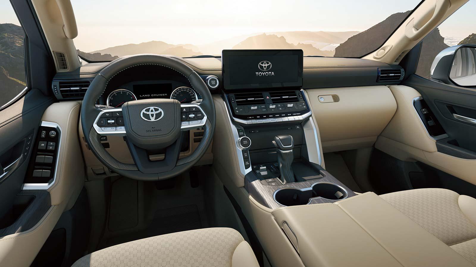 Interior nueva Toyota Land Cruiser 2022