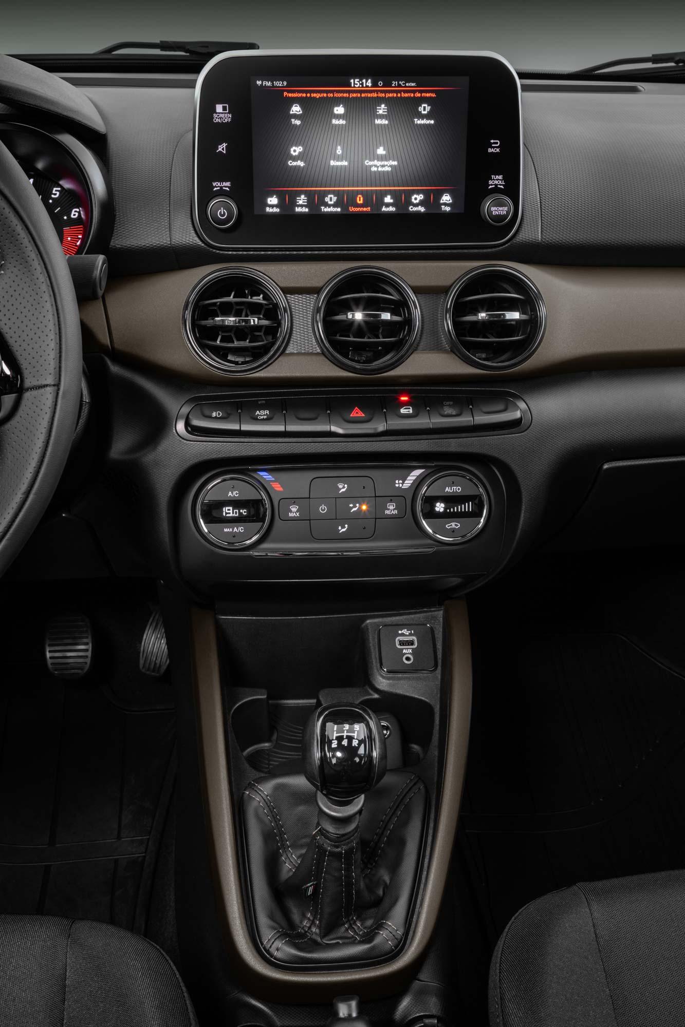 Interior nuevo Fiat Cronos S-Design 2022