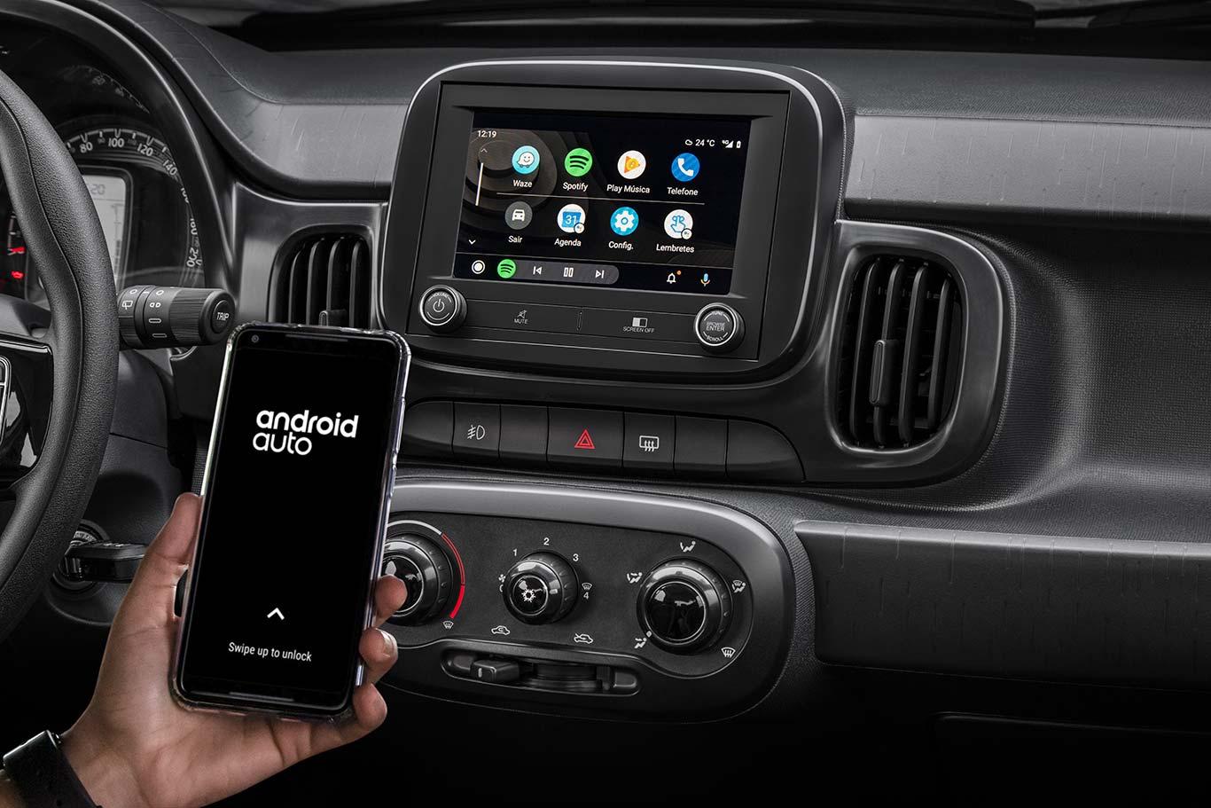 Android Auto Fiat Mobi 2021