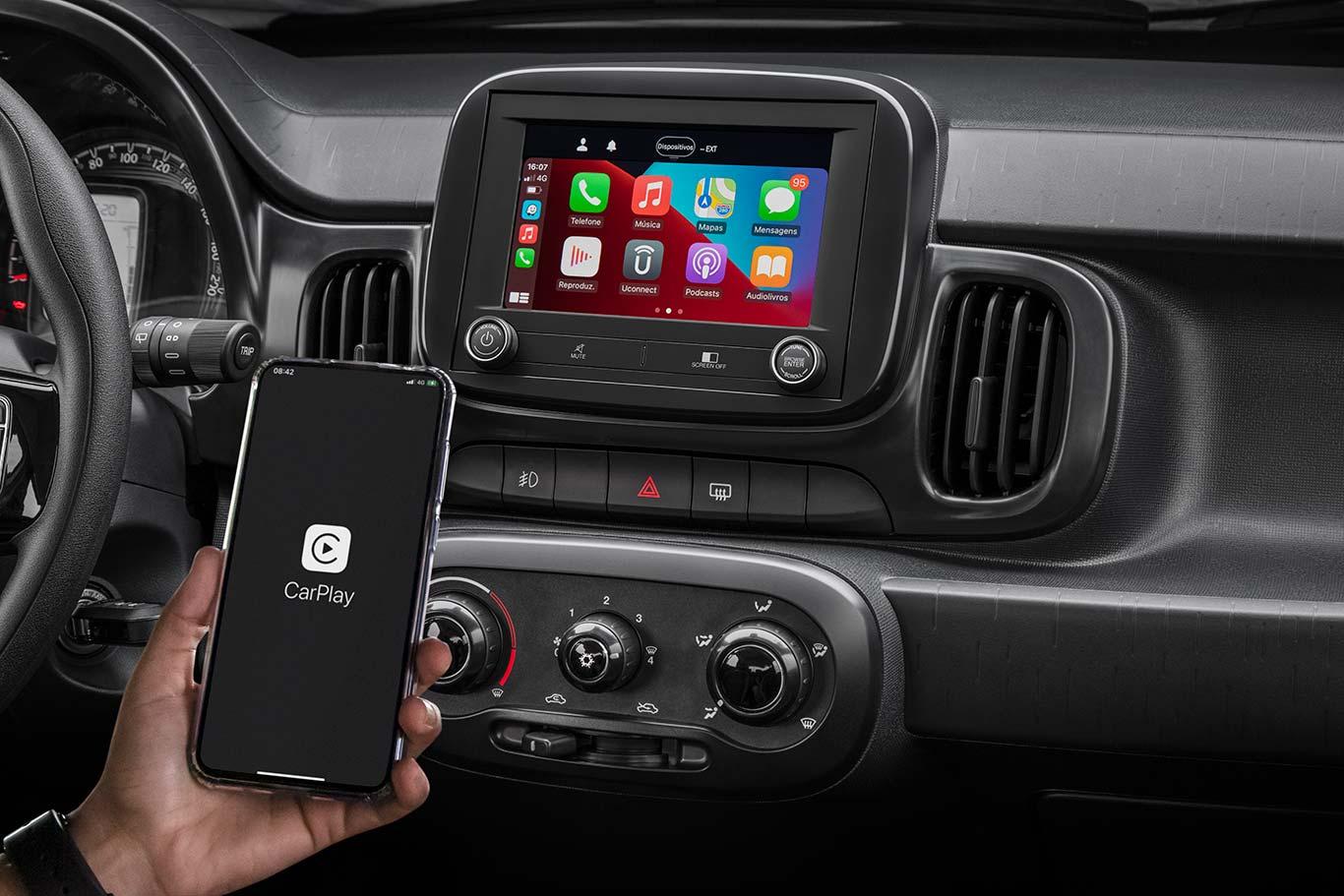Apple CarPlay Fiat Mobi 2021