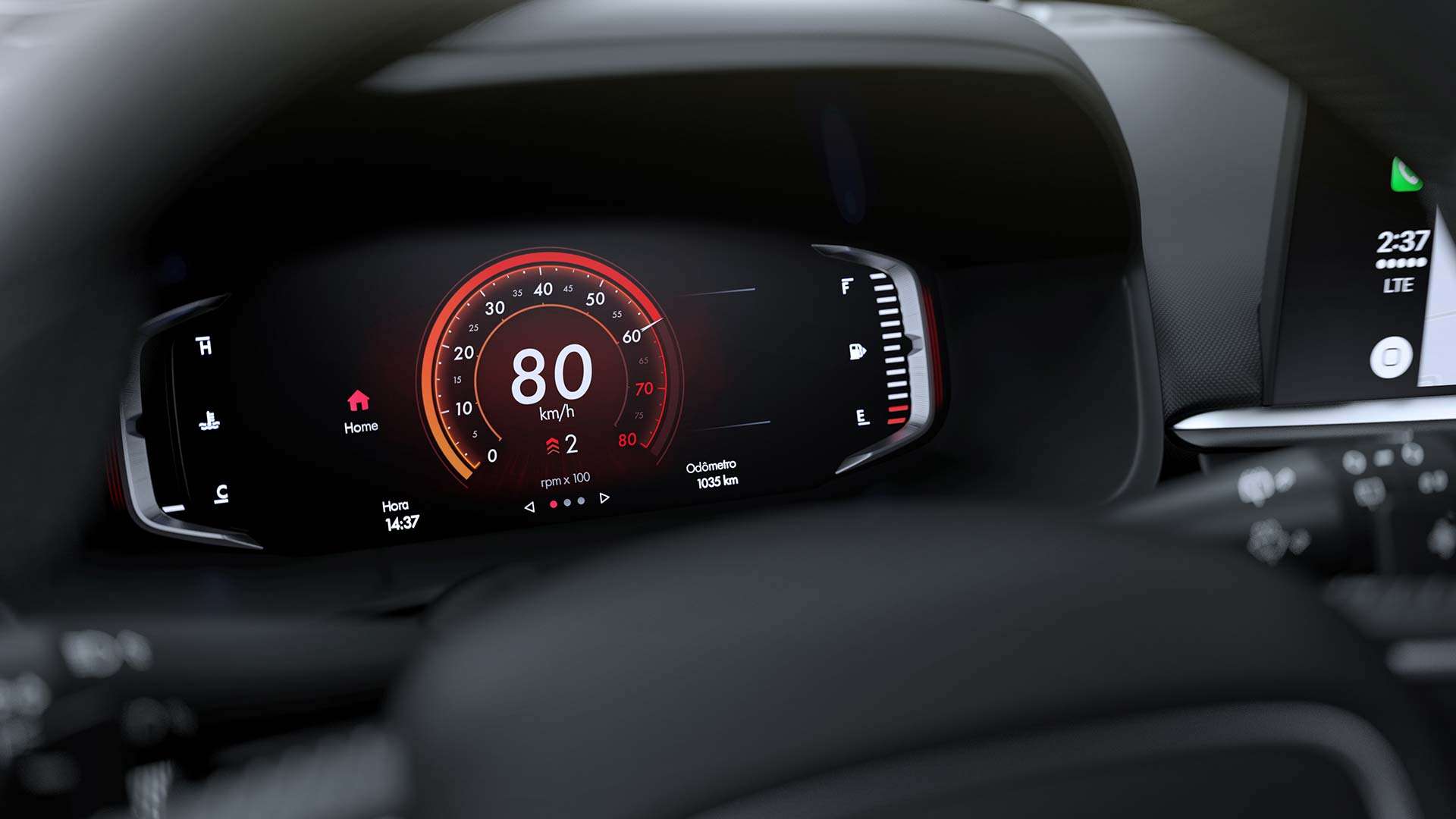 Tablero digital Fiat Pulse