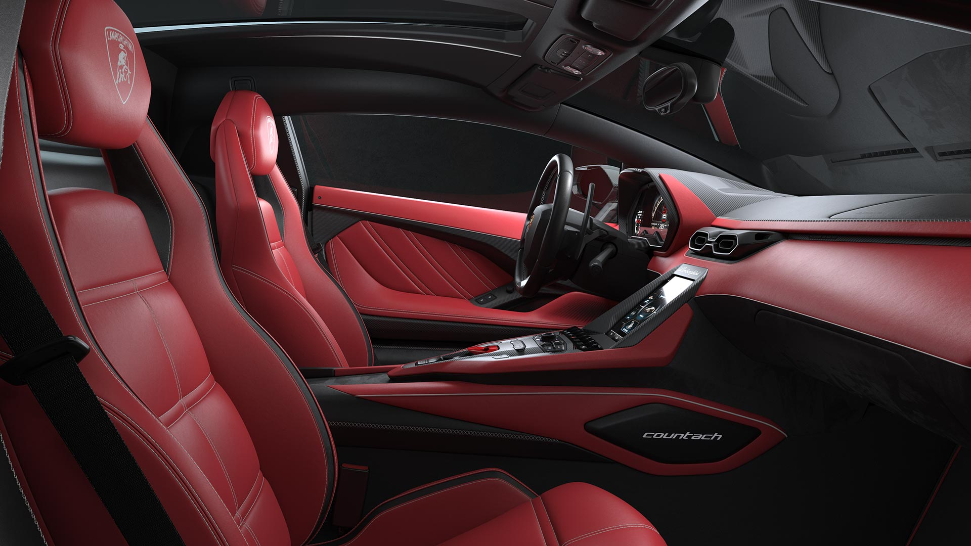 Interior Nuevo Lamborghini Countach