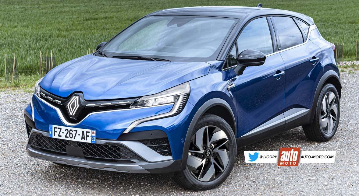 Renault Captur 2023 render
