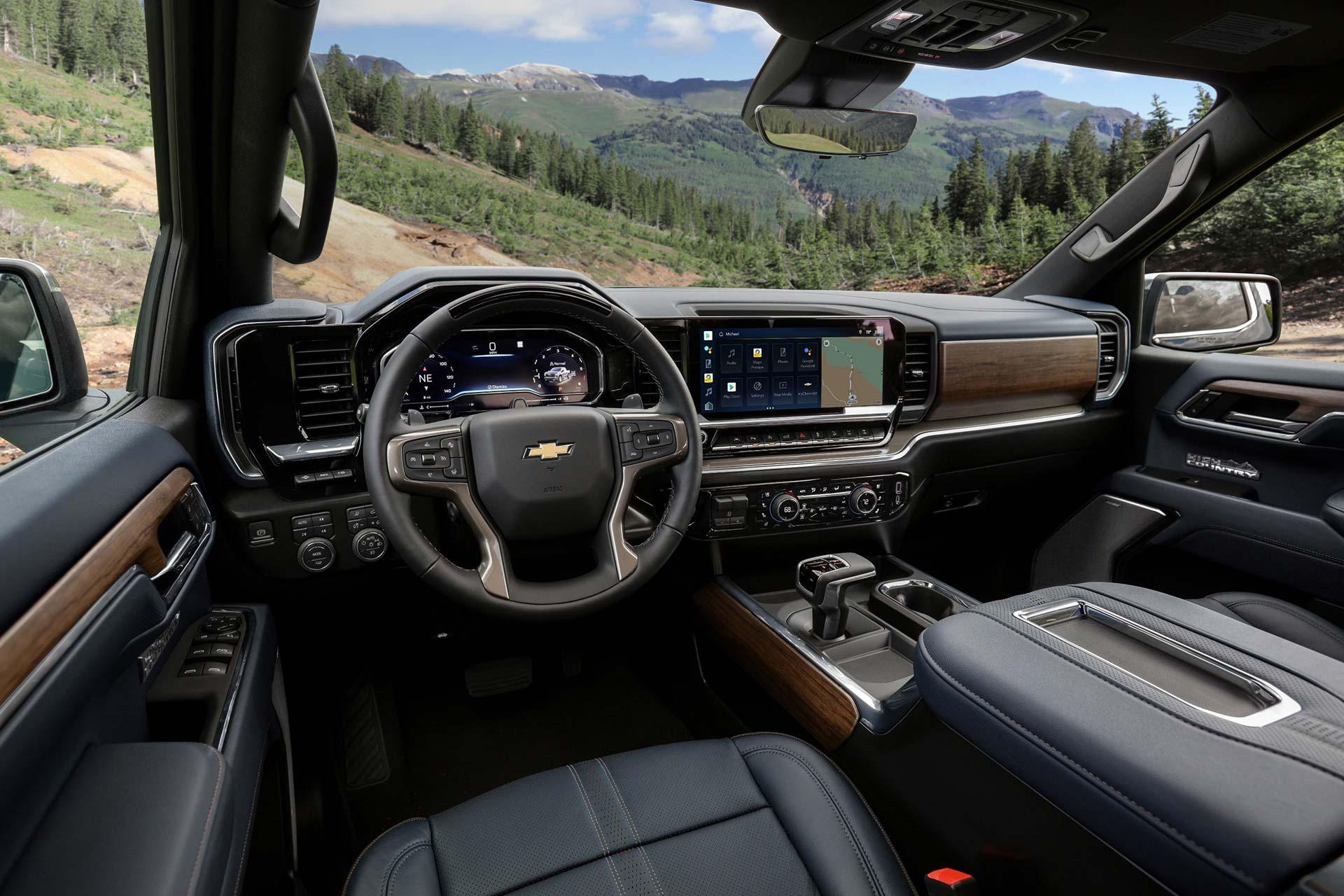 Interior Chevrolet Silverado 2022