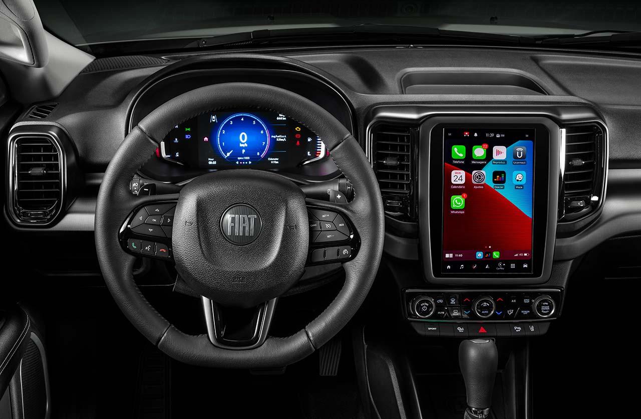 Interior nueva Fiat Toro 2022