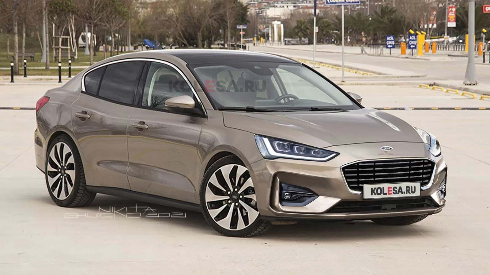 Ford Focus Sedán 2022 restyling render